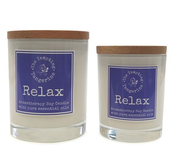 Candle Labels - The Tempting Tangerine