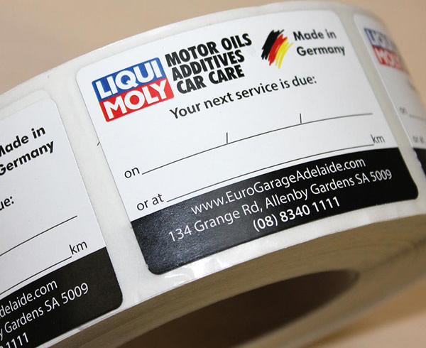 Double Sided Labels - Liqui Moly Motor Oils