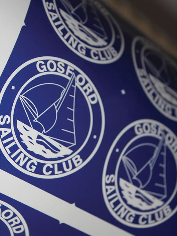 Outdoor Labels - Gosford Sailing Club